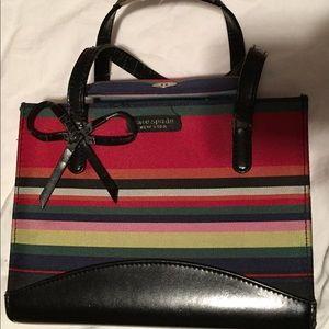 Cute Kate Spade striped canvas handbag